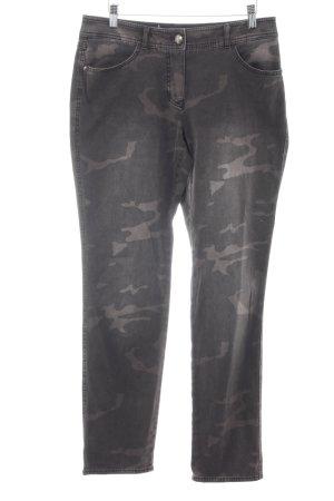 Gerry Weber Slim Jeans graubraun Camouflagemuster Military-Look