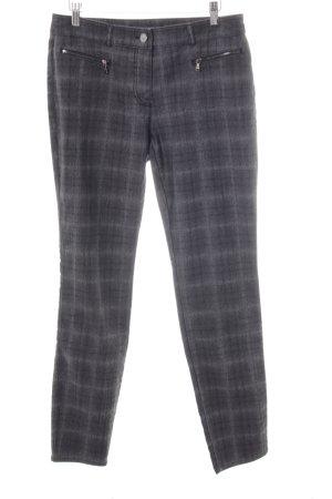 Gerry Weber Slim Jeans schwarz-grau Karomuster Casual-Look