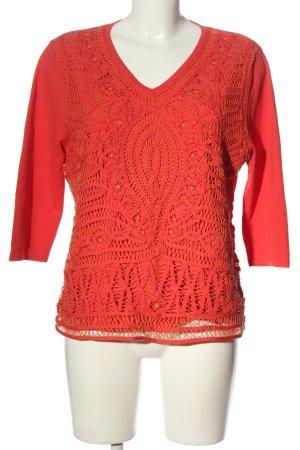 Gerry Weber Koronkowa bluzka czerwony W stylu biznesowym