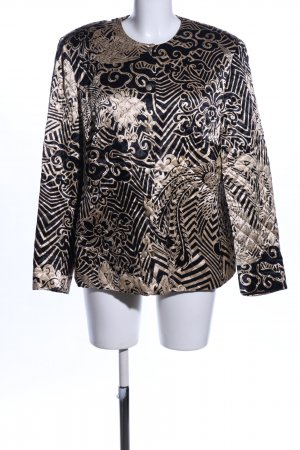 Gerry Weber Quilted Jacket black-bronze-colored flower pattern business style