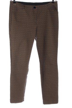 Gerry Weber Jersey Pants brown-black abstract pattern elegant