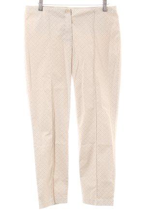 Gerry Weber Stoffhose beige-wollweiß abstraktes Muster Casual-Look