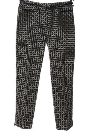 Gerry Weber Stoffhose schwarz-weiß abstraktes Muster Casual-Look