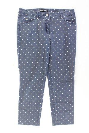 Gerry Weber Straight Jeans Größe 42 gepunktet blau