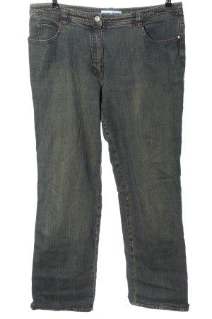 Gerry Weber Jeansy z prostymi nogawkami niebieski Wyhaftowany logo