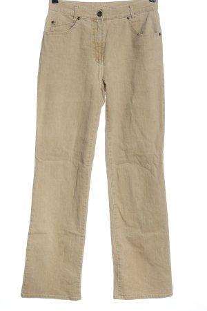 Gerry Weber Jeansy z prostymi nogawkami kremowy W stylu casual