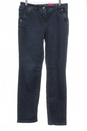 Gerry Weber Straight-Leg Jeans dunkelblau Washed-Optik