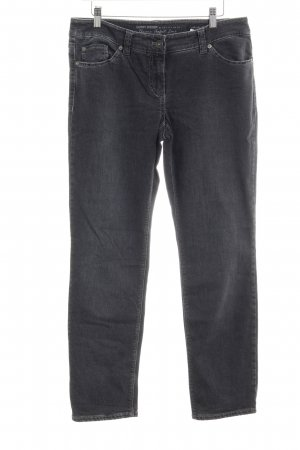 Gerry Weber Straight-Leg Jeans dunkelgrau Casual-Look