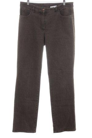 Gerry Weber Jeansy z prostymi nogawkami szaro-brązowy Melanżowy W stylu casual