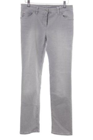 Gerry Weber Jeansy z prostymi nogawkami jasnoszary Prosty styl