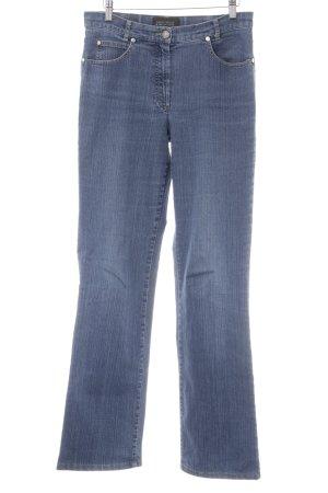 Gerry Weber Jeansy z prostymi nogawkami chabrowy W stylu casual