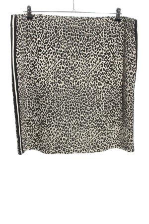 Gerry Weber Spódnica ze stretchu biały-czarny Abstrakcyjny wzór