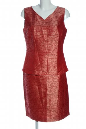 Gerry Weber Twin set in maglia rosso-crema stampa integrale elegante