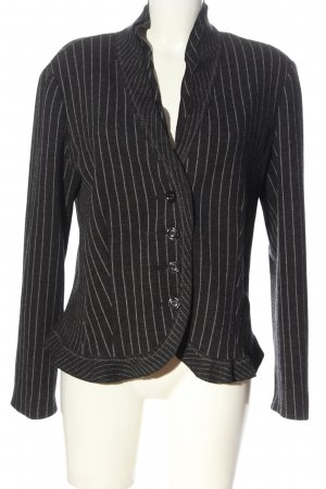 Gerry Weber Strickblazer schwarz-hellgrau Streifenmuster Business-Look