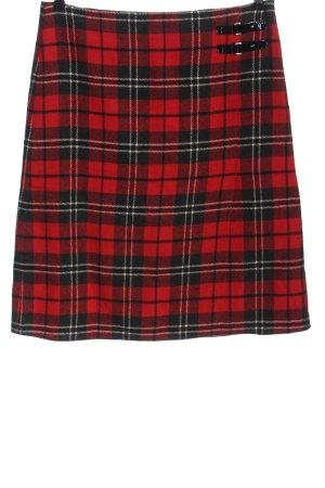 Gerry Weber Jupe tricotée rouge motif à carreaux style d'affaires