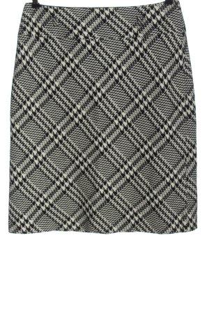 Gerry Weber Jupe tricotée blanc-noir imprimé allover style d'affaires