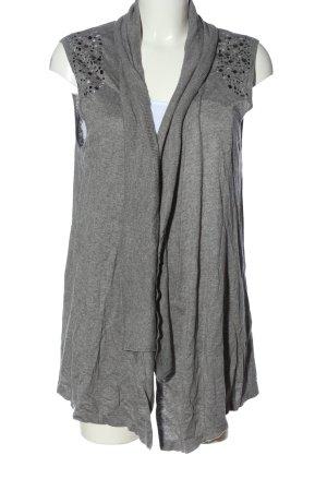 Gerry Weber Gilet tricoté gris clair moucheté style décontracté