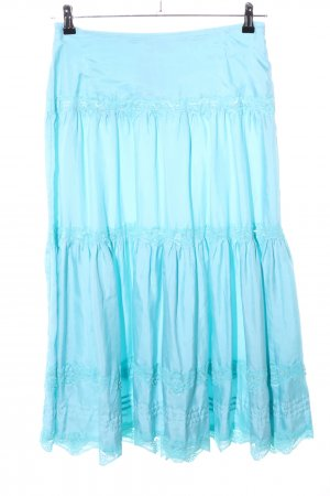 Gerry Weber Broomstick Skirt turquoise casual look