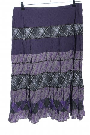 Gerry Weber Broomstick Skirt lilac-light grey check pattern casual look