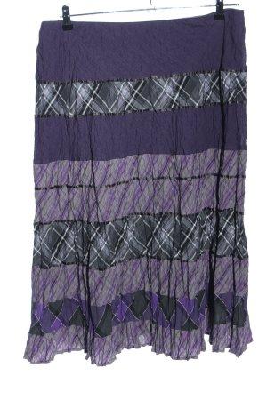 Gerry Weber Jupe superposée violet-gris clair motif à carreaux
