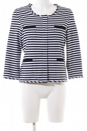 Gerry Weber Sweat Jacket black-white striped pattern business style