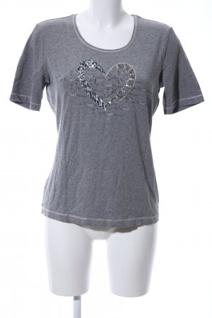 Gerry Weber T-Shirt hellgrau meliert Casual-Look