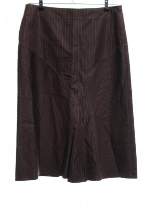 Gerry Weber Circle Skirt brown striped pattern casual look