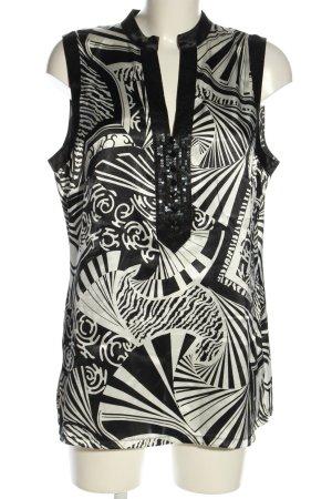Gerry Weber Tuniek zwart-wit abstract patroon casual uitstraling
