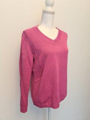 Gerry Weber V-Ausschnitt Langarm Pullover Oberteil rosa pink 38
