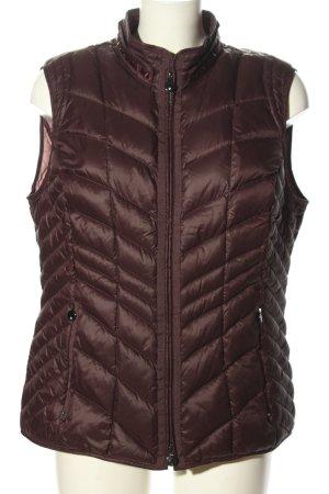 Gerry Weber Reversible Vest brown quilting pattern casual look