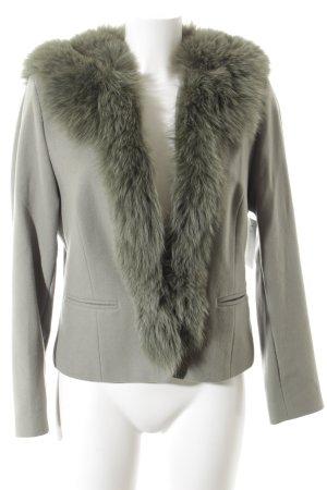 Gerry Weber Wollen blazer grijs-groen elegant