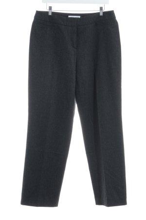 Gerry Weber Pantalone di lana grigio scuro-grigio puntinato stile professionale