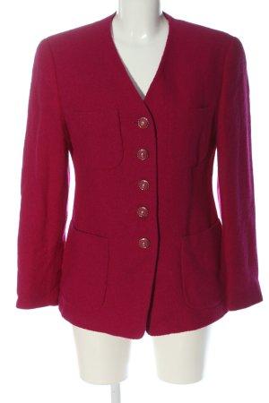 Gerry Weber Manteau en laine rose moucheté style décontracté