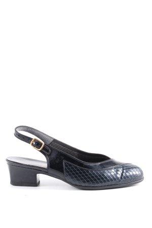 Gerwinia Riemchen-Sandaletten schwarz Animalmuster Business-Look