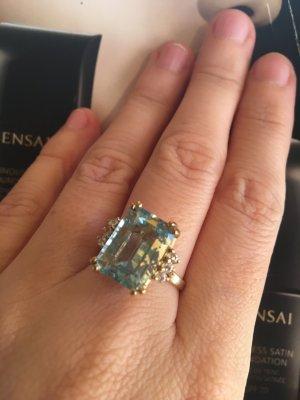 Gouden ring blauw-goud Goud
