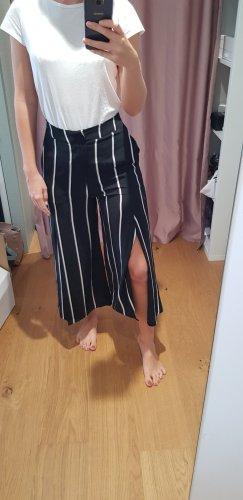 Mango Falda pantalón blanco-negro