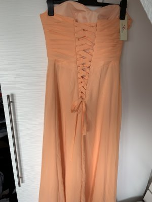 Geschnürtes Abendkleid Apricot