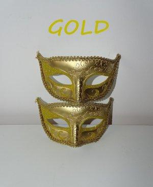 Gesicht Maske Muster Verzierung Glitzer Gold (NP: 40€)