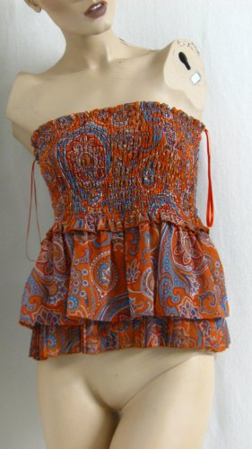 Anna Rita N Ruche blouse veelkleurig Polyester