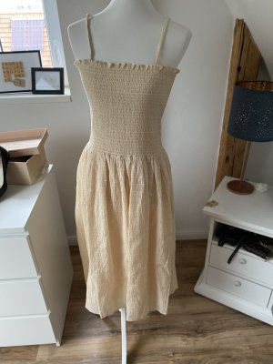 & other stories Vestido a media pierna beige claro
