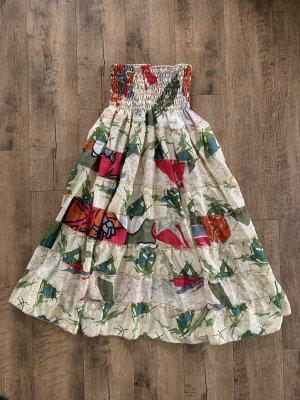 Unbekannte Marke Sukienka z dekoltem typu bandeau Wielokolorowy