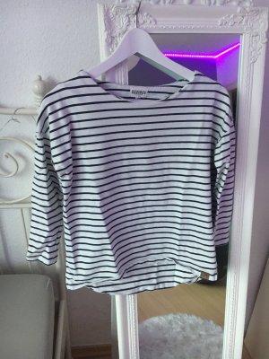 desires Koszulka w paski biały-ciemnoniebieski