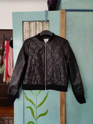 Pimkie Faux Leather Jacket dark brown