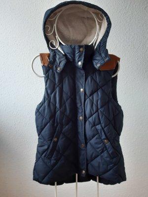 H&M L.O.G.G. Chaleco con capucha azul oscuro