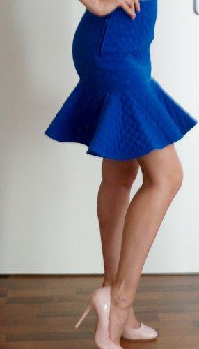 Asos Jupe à volants bleu polyester