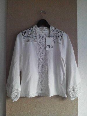 gestickte Bluse aus 100% Baumwolle, Grösse M, neu
