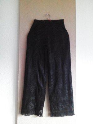 gestickte gerade geschnittene Hose, Grösse S, neu