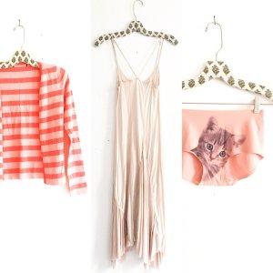 gestreife strickjacke / cardigan / vintage / rosé / nude / boho / romanticlook