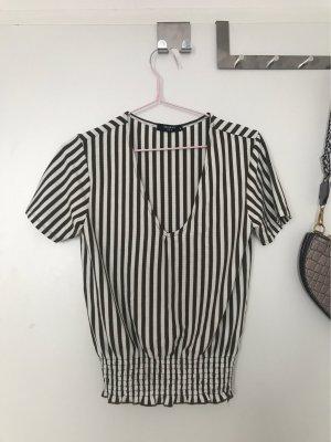 Gestreift khaki Tshirt
