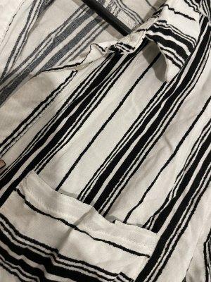 H&M Long Sleeve Blouse white-black